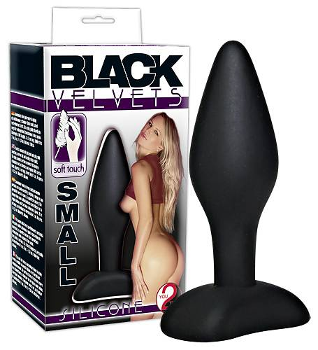 Black Velvets Silicone Buttplug Small