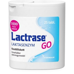 Lactrase GO Laktasenzym tablett 25 st