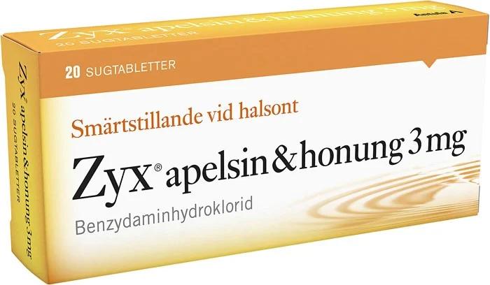 Zyx Apelsin Honung sugtablett 3 mg 2 x 10 st