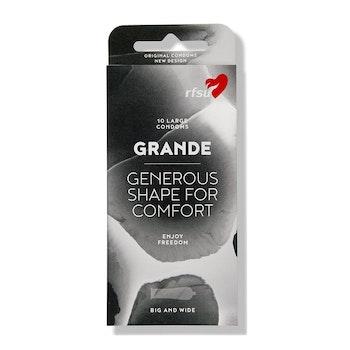 RFSU Grande 10 st Extra rymlig kondom för skön känsla