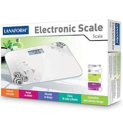 Digital personvåg Vit ELECTRONIC SCALE Lanaform