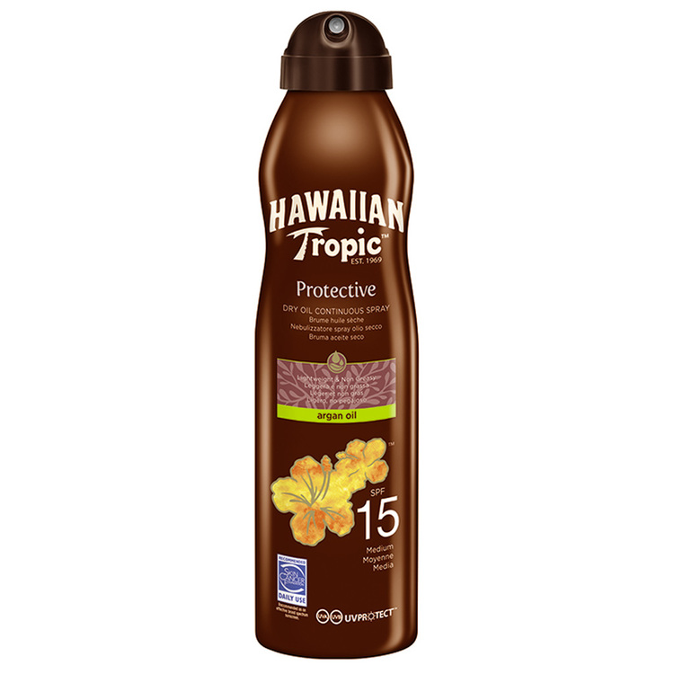 Hawaiian Tropic  Dry Oil Argan C-Spray 15 SPF