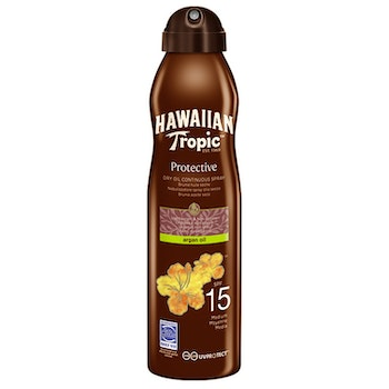 Hawaiian Tropic  Dry Oil Argan C-Spray 15 SPF