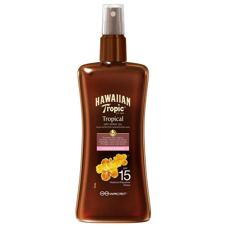 Hawaiian Tropic Protective Dry Spray Oil SPF15 200 ml