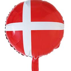 Folieballong Danska Flaggan