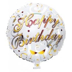 "Folieballong ""HAPPY BIRTHDAY"" Guld"