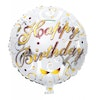 "Folieballong ""HAPPY BIRTHDAY"" Guld"