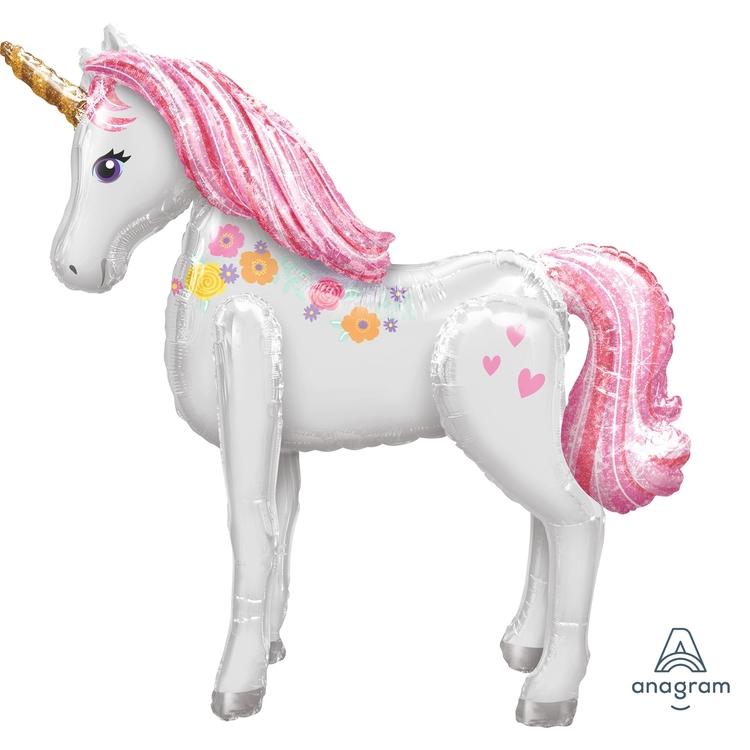 Folieballong Airwalker Magical Unicorn Enhörning