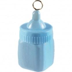 Ballongvikt nappflaska blå