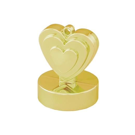 Hjärtformad Tyngd - Guld