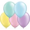 12 cm blandade pärlemo pastel ballonger 100 pack