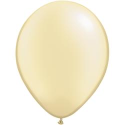 12 cm pärlemo elfensbensvit ballong 100 pack