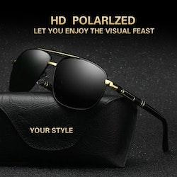 Klassiska Retro Polariserande Metall Solglasögon
