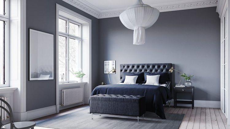 Ljusgrå Julia ställbar kontinentalsäng 180 x 200cm Sängpaket med Paula gavel