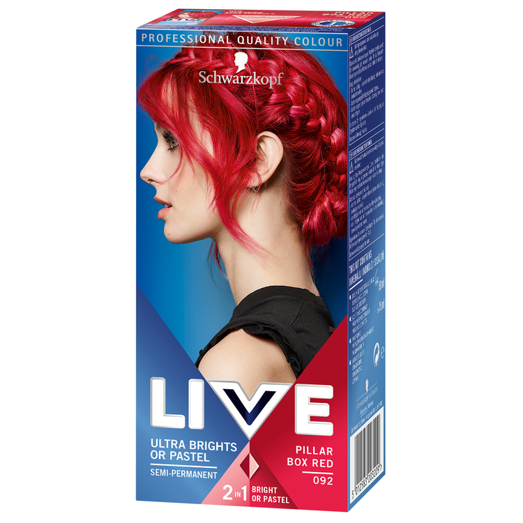 Schwarzkopf Live Color Hårfärg Ultra Brights or Pastel 92 Red