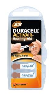 Batteri Duracell Activair 312, 6 st