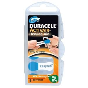 Duracell Activair batteri typ 675 6 st