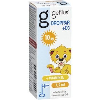 Gefilus Droppar +D3 7.5 ml