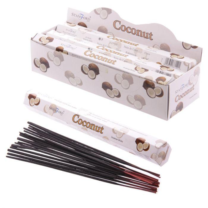 Premium Hex Rökelse Stickor - Kokosnöt 20 pack