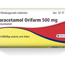 Paracetamol Orifarm, filmdragerad tablett 500 mg 20 st
