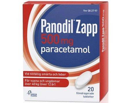 Panodil Zapp, filmdragerad tablett 500 mg 20 st