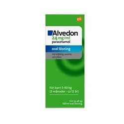 Alvedon, oral lösning 24 mg/ml 100 ml
