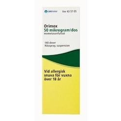 Orimox, nässpray, suspension 50 mikrogram/dos 140 st