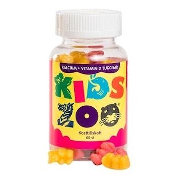 KidsZoo Kalcium+ Vitamin D 60 tuggtabletter björnar