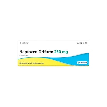 Naproxen Orifarm, tablett 250 mg 10 st