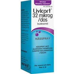 Livicort nässpray 32 mikrogram/dos 120 st