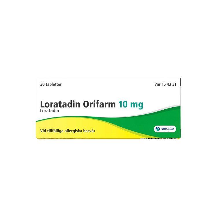 Loratadin Orifarm, tablett 10 mg 30 st