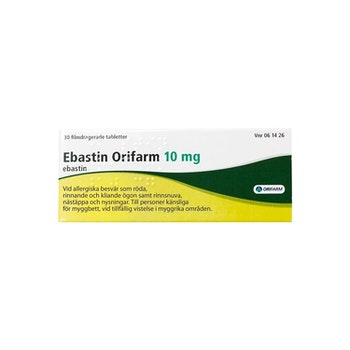 Ebastin Orifarm, filmdragerad tablett 10 mg 30 st
