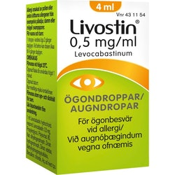 Livostin ögondroppar, suspension 0,5 mg/ml 4 ml
