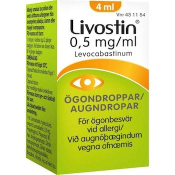 Livostin ögondroppar, suspension 0,5 mg/ml 4 ml