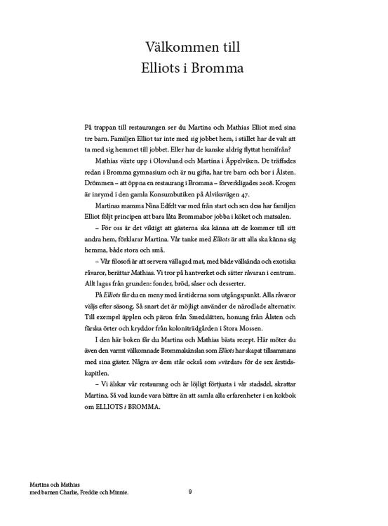 Elliots i Bromma – kokbok för de sex årstiderna
