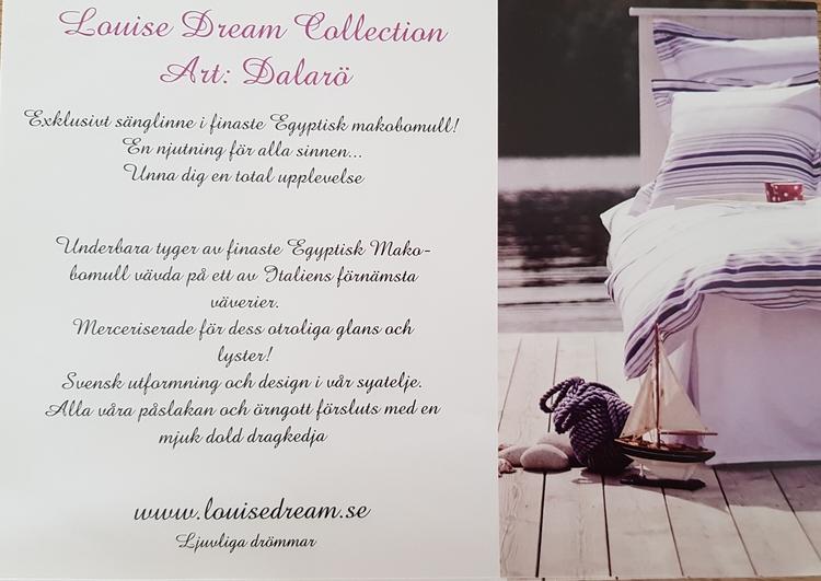 Örngott Dalarö Egyptisk satin av makobomull. 50 x 60 med spegelkant Louise Dream Collection