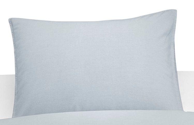Washed örngott ljusblå 50 x 60 cm