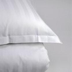 Påslakan Satinrand Stilig  vit 150 x 210_2 pack