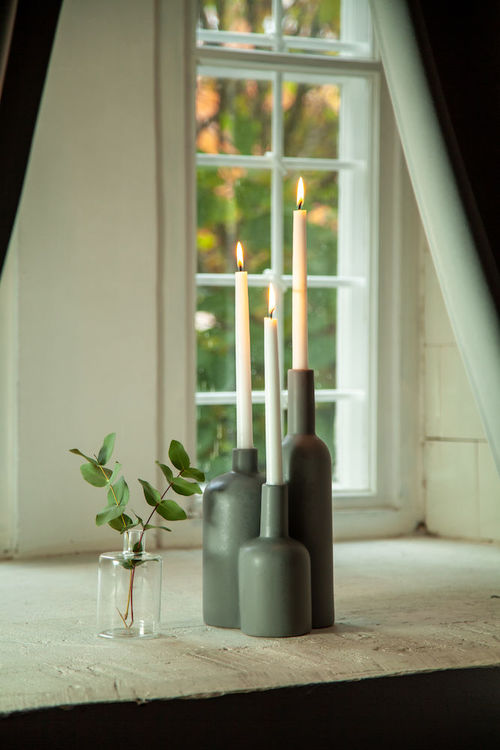Orrefors Ljusstake Flaska
