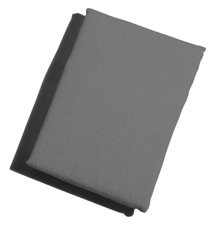 Underlakan grått Linne 150 x 260 cm