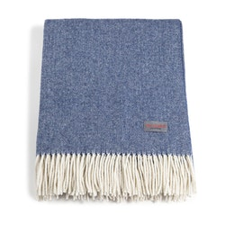 Recycled Wool Blanket Blue & Offwhite