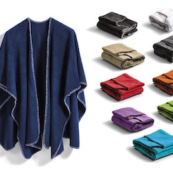 Poncho i fleece