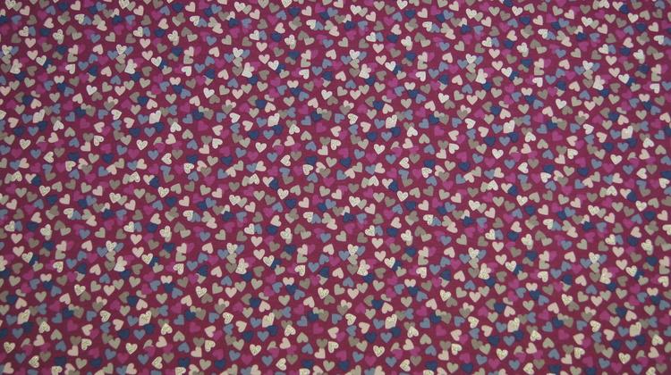 Jersey hjerter rosa med glitter bit
