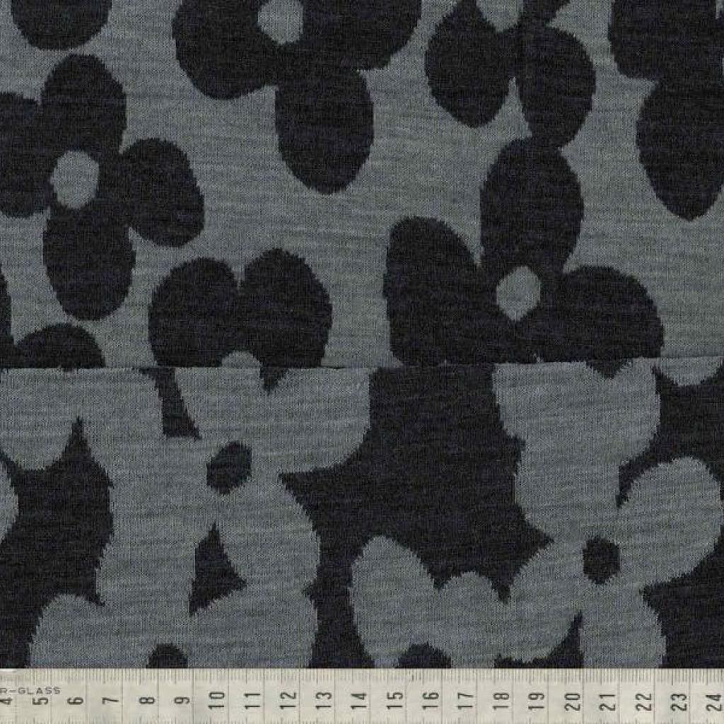 Merinoull grå Blomst
