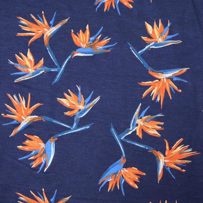 Modal jersey trykket- kaktus blomst