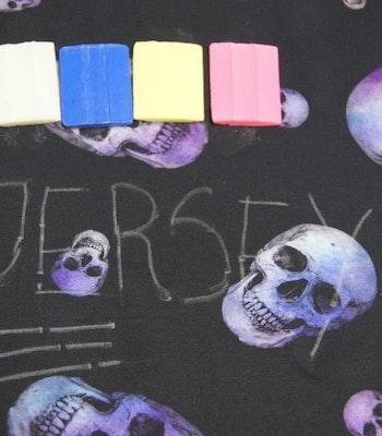 Jersey økologisk kritt 4 farger
