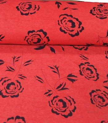 Bomull Pazen(flanell) svarte roser