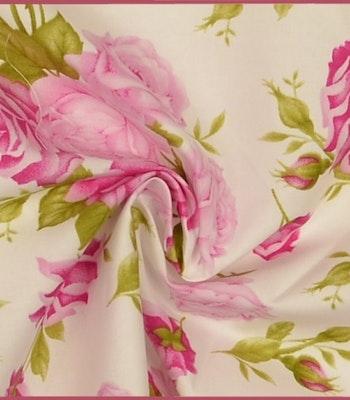 Bomull rosa roser