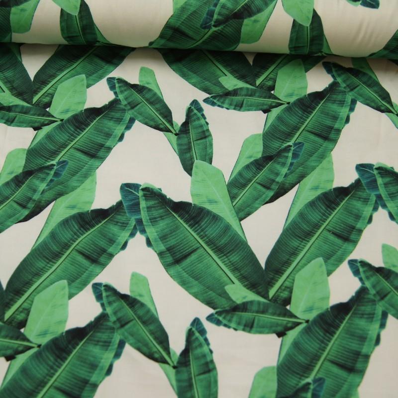 Bomullssateng Grønne blader