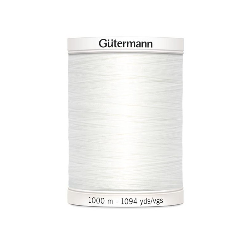 Gutermann 1000m hvit